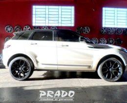 Prado Rodas e Pneus – land rover com rodas pintadas de preto prado rodas