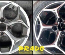 prado roda diamantação de roda antes e depois