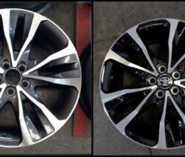 prado rodas diamantação roda corolla grafite e preta